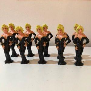 Plastic Marilyn Monroe little figurines